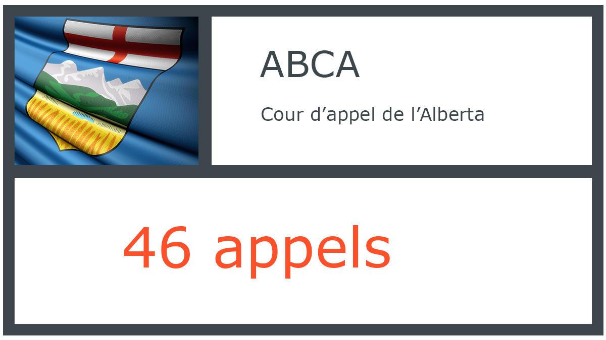 ABCA - Cour d'appel de l'Alberta - 46 appels