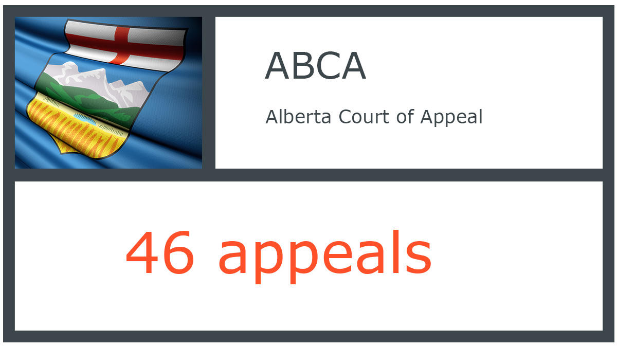 ABCA infographic - Alberta Court of Appeal - 46 appeals