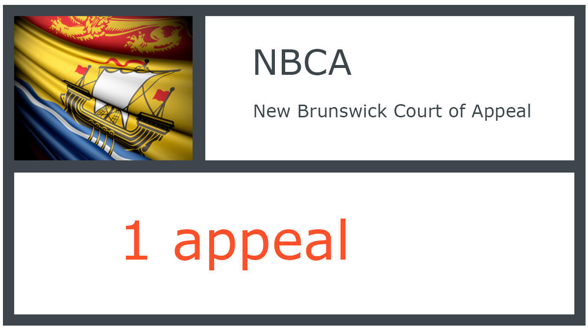 NBCA infographic - New Brunswick Court of Appeal - 1 appeal