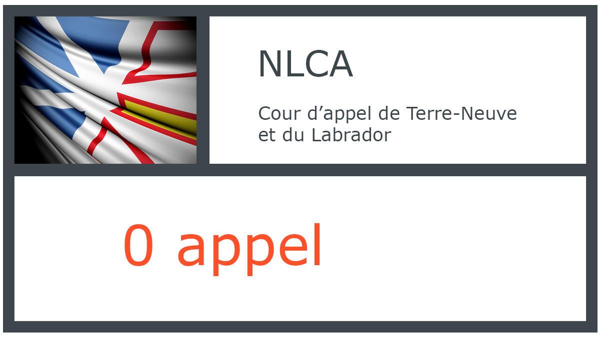 NLCA - Cour d'appel de Terre-Neuve et du Labrador - 0 appel