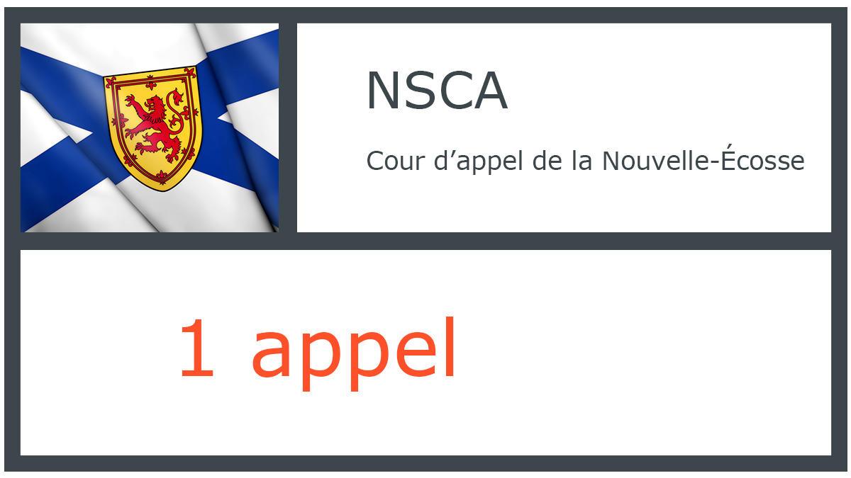 NSCA - Cour d'appel de la Nouvelle-Écosse - 1 appel
