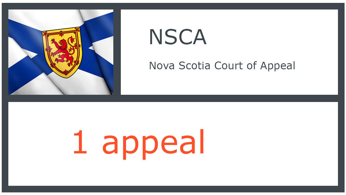 NSCA infographic - Nova Scotia Court of Appeal - 1 appeal