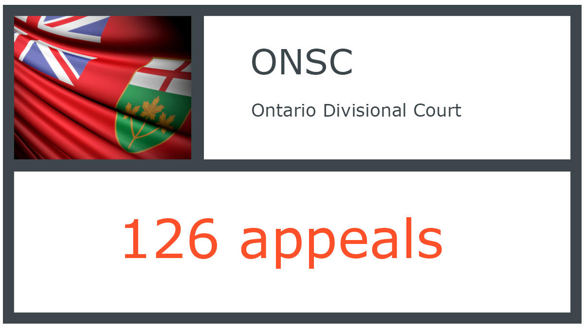 ONSC infographic - Ontario Court of Appeal - 126 appeals