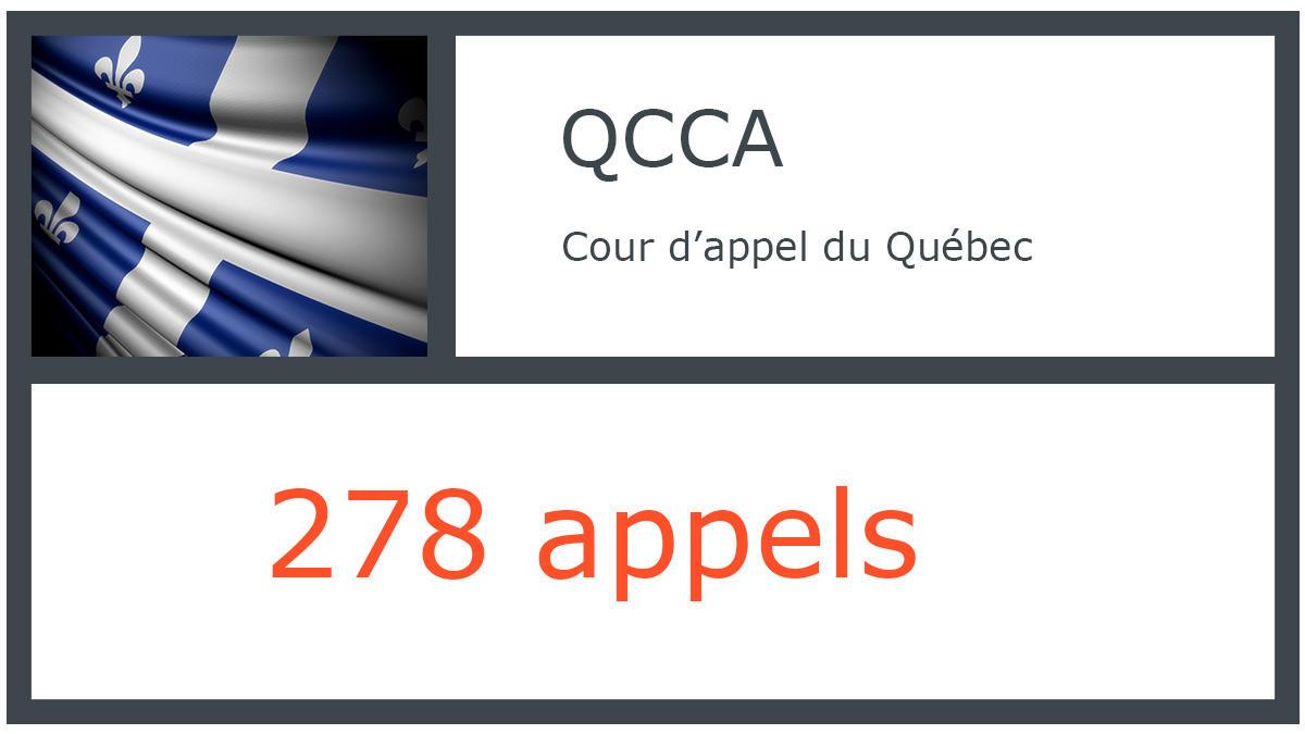 QCCA - Cour d'appel du Québec - 278 appels