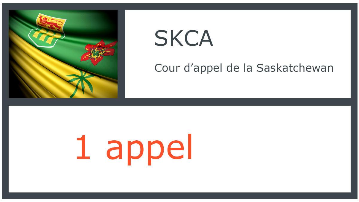 SKCA - Cour d'appel de la Saskatchewan - 1 appel