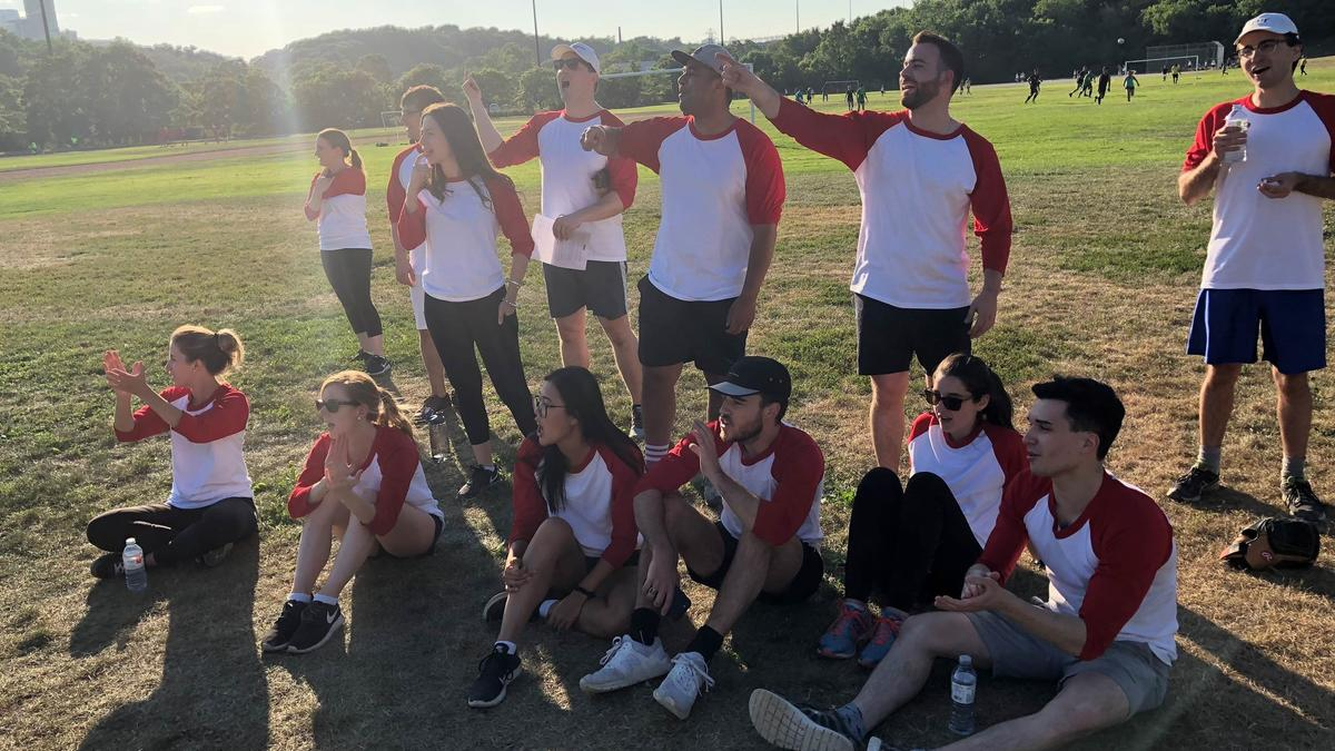 Photo - Cheering from the sidelines - Toronto Summer Student and Litigation Annual Softball Tournament