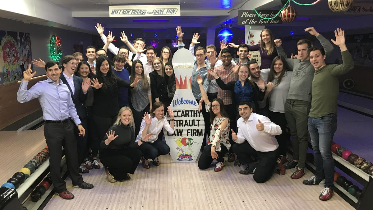 Photo - Toronto Articling Student and Associate Event - Danforth Bowl