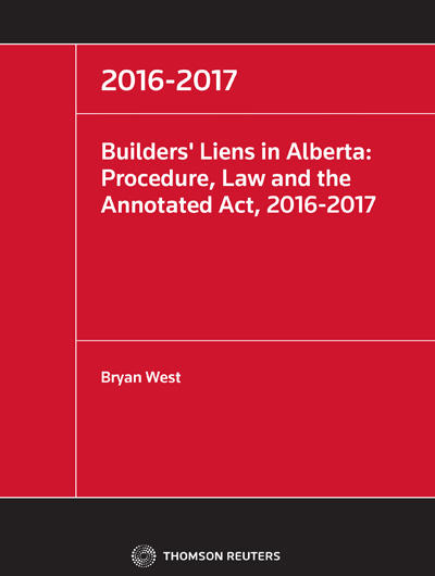 Practical Guide to Navigating Builders' Liens in Alberta Book Cover