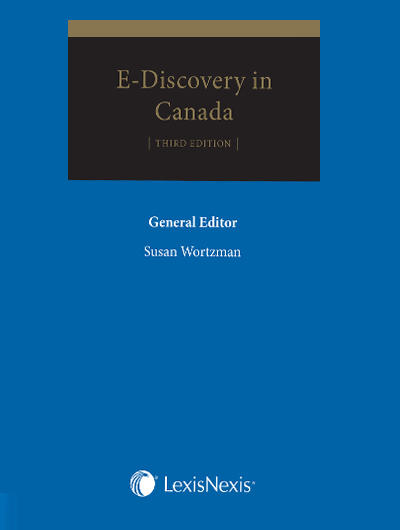 E-Discovery in Canada Book Cover