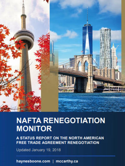 NAFTA Renegotiation Monitor Book Cover