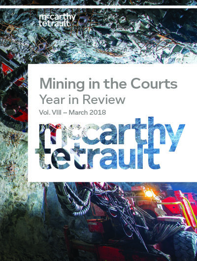 Mining in the Courts, Year in Review Cover Image