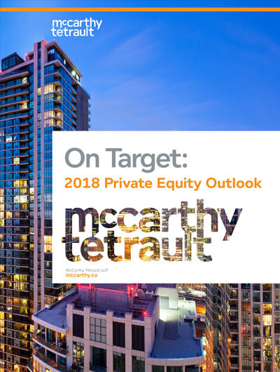On Target: 2018 Private Equity Outlook - Learn more about trends to watch - Book Cover