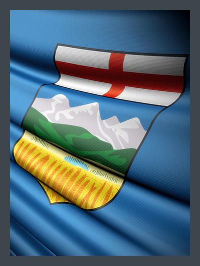 Drapeau Alberta Flag