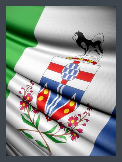 Drapeau Yukon Flag