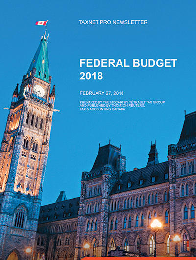 Image of cover for 2018 Canadian Federal Budget Commentary