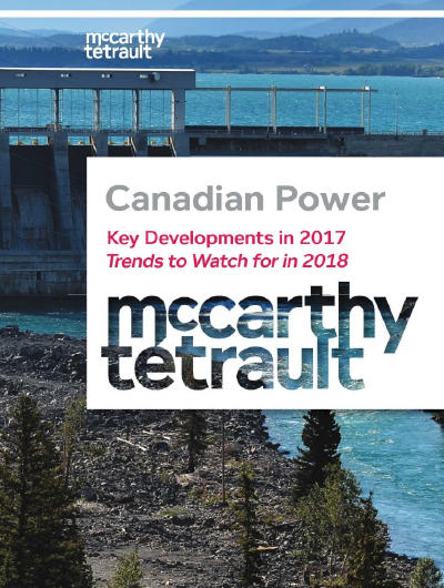3rd Edition of Canadian Power- Key Developments and Trends to Watch Book Cover