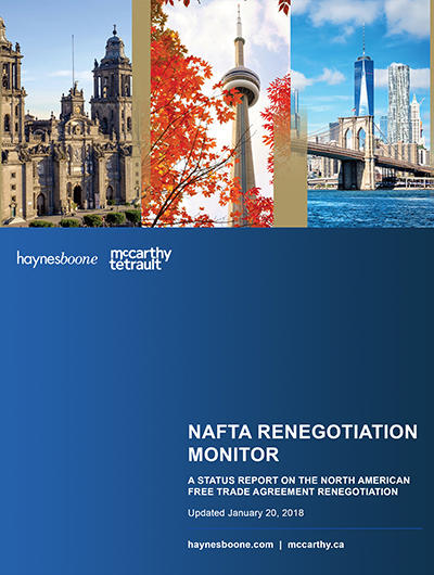 NAFTA Renegotiation Monitor Book Cover