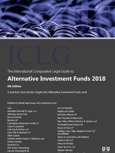 Cover of the International Comparative Legal Guide to: Alternative Investment Funds 2018
