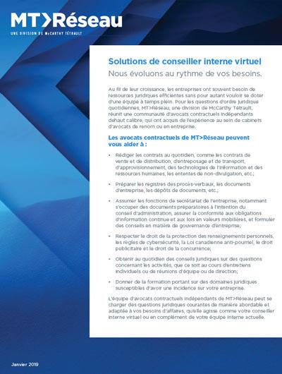 Virtual in-house infosheet cover