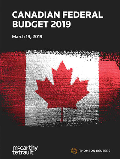 2019 Canadian Federal Budget Commentary – Tax Initiatives - Cover