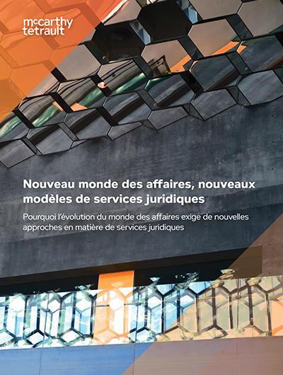 Nouveau monde des affaires, nouveaux modèles de services juridiques Image couverture