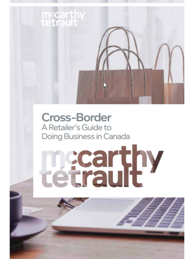 Book cover for Cross-Border: A Retailer's Guide to Doing Business in Canada Available Now
