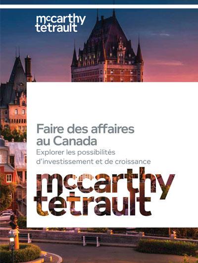 Faire des affaires au Canada - cover