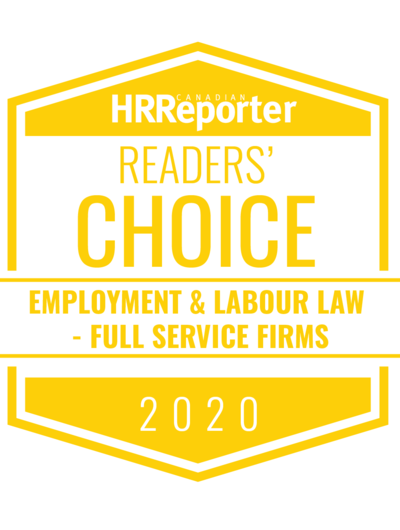 Canadian HR Reporter: Readers Choice Award