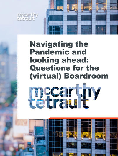 Navigating the Pandemic and looking ahead: Questions for the (virtual) Boardroom