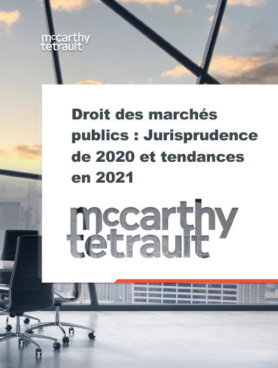 L'activité en droit des marchés publics en 2020 a préparé le terrain pour les tendances en 2021