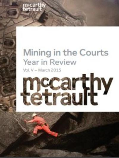 Mining in the Courts, Year in Review, Vol. V