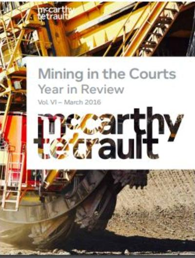 Mining in the Courts
