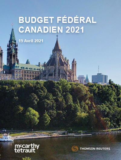 Commentaire relatif au budget fédéral de 2021 – Mesures fiscales